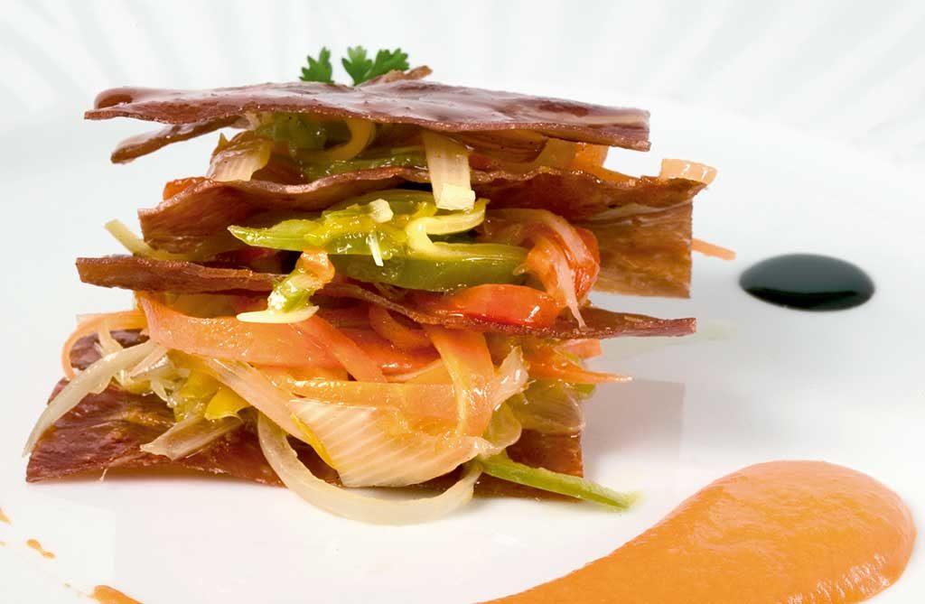Millefeuille de jambon de Teruel 2