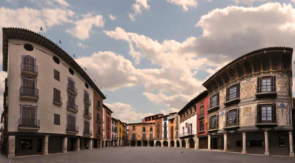 Graus Y Albarracín Pza Mayor Graus